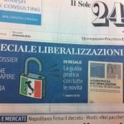 Il Sole 24 Ore s'è desto! Commozione! Trupudio! Felicità! La Sardegna da oggi fa di nuovo parte dell'Italia! Almeno sulla carta…