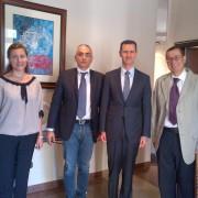 Incredibile: due sardi incontrano il presidente siriano Assad a Damasco e nessun giornale ne parla! E allora lo scoop lo faccio io!