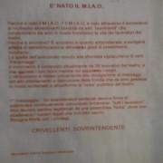 Teatro Lirico, ritrovato volantino anonimo del movimento M.I.A.O! E i lavoratori rispondono fondando il B.A.U!