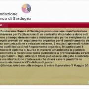 Sei giornalista? Sei laureato? Vuoi guadagnare bene? La Fondazione Banco di Sardegna ha bisogno di te!