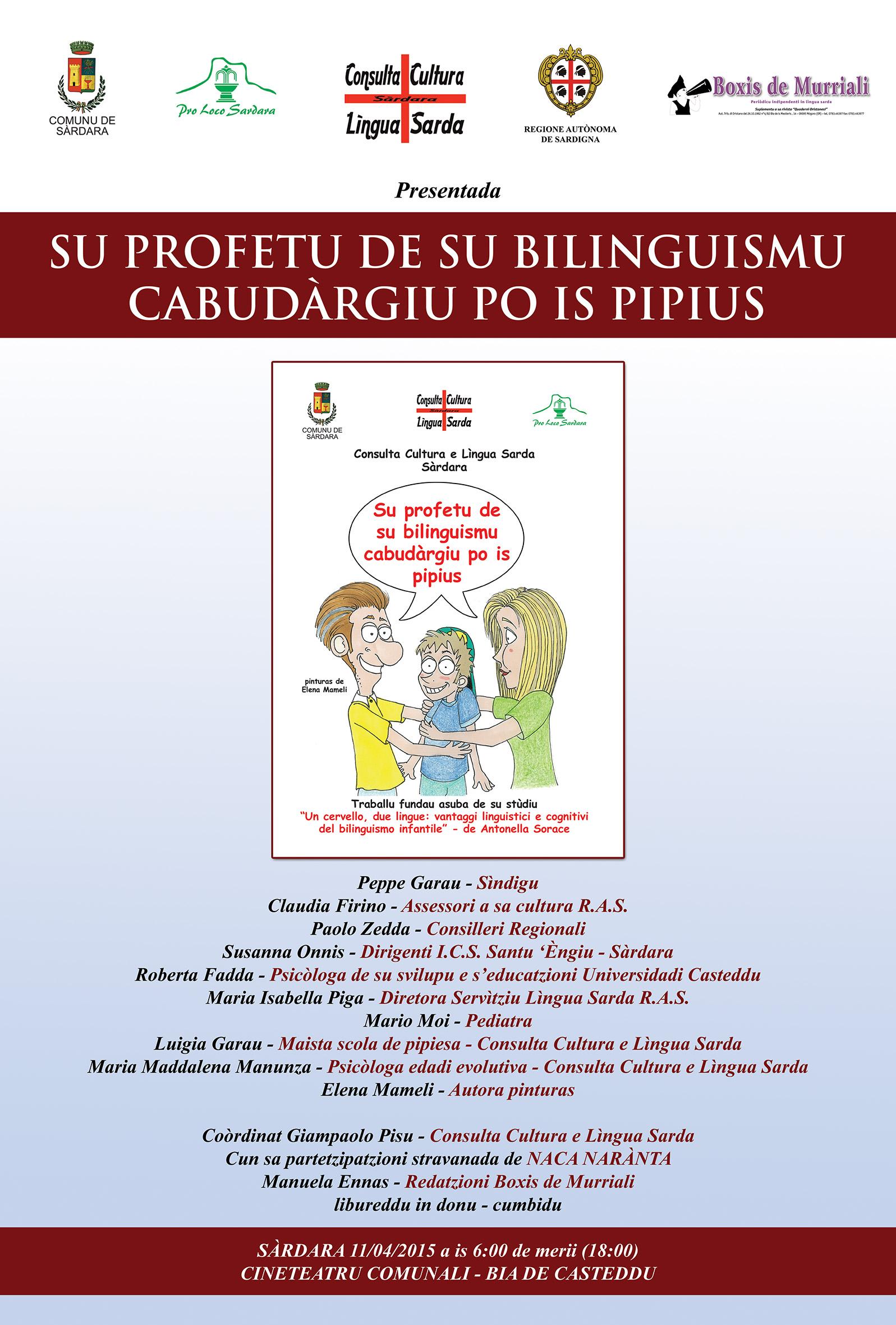 locandina bilinguismo opuscolo sardo