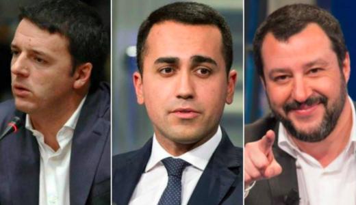 """Renzi, Di Maio e Salvini e quell'ossessione per i """"pieni poteri"""" che ora ingessa la politica italiana"""