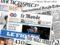 Alcuni giornali stranieri combinati in una rielaborazione grafica, Roma 11 dicembre 2012  ANSA