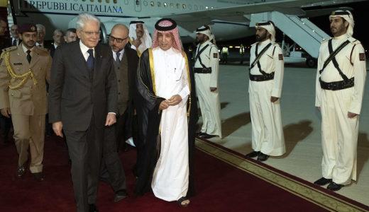 Doha - Il Presidente della Repubblica Sergio Mattarella  al suo arrivo all'aeroporto di Doha, in occasione della visita nello Stato del Qatar, oggi  20 gennaio 2020. (Foto di Paolo Giandotti - Ufficio per la Stampa e la Comunicazione della Presidenza della Repubblica)
