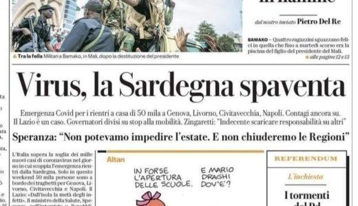 Contro le minch**ate dei giornali italiani servirebbe un giornalismo sardo autorevole: che non c'è